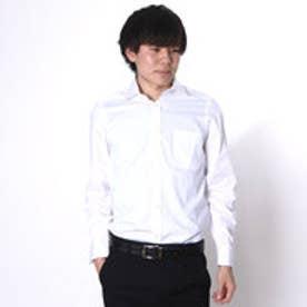 大丸・松坂屋 カミチッシマ Camicissima スーパースリムフィット 長袖ワイドカラーシャツ (ホワイト)