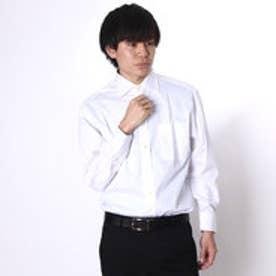 大丸・松坂屋 カミチッシマ Camicissima レギュラーフィット 長袖ワイドカラーシャツ (ホワイト)