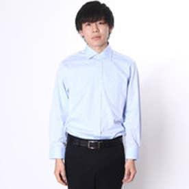 大丸・松坂屋 カミチッシマ Camicissima スリムフィット 長袖ワイドカラーシャツ (ブルー)