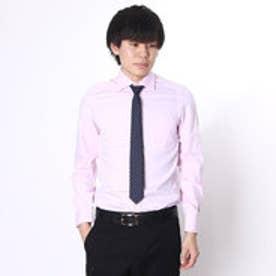 大丸・松坂屋 カミチッシマ Camicissima スーパースリムフィット 長袖ワイドカラーシャツ (ピンク)