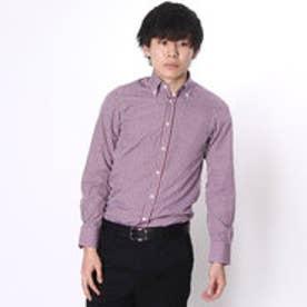 大丸・松坂屋 カミチッシマ Camicissima スーパースリムフィット 長袖ボタンダウンカラーシャツ (ピンク)