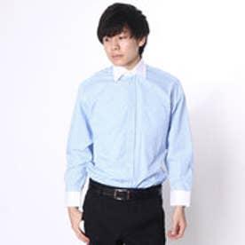 大丸・松坂屋 カミチッシマ Camicissima レギュラーフィット 長袖クレリックシャツ (ブルー)