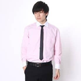 大丸・松坂屋 カミチッシマ Camicissima レギュラーフィット 長袖クレリックシャツ (ピンク)