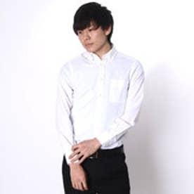 大丸・松坂屋 カミチッシマ Camicissima スーパースリムフィット 長袖ボタンダウンカラーシャツ (ホワイト)
