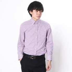 大丸・松坂屋 カミチッシマ Camicissima スリムフィット 長袖ボタンダウンシャツ (ピンク)