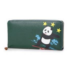 ケイタマルヤマ アクセサリーズ KEITAMARUYAMA accessories パンダ ラウンドファスナー長財布 (グリーン)