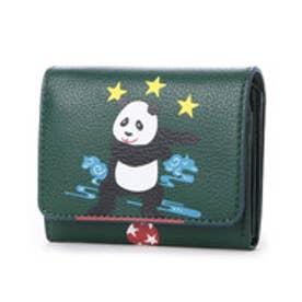 ケイタマルヤマ アクセサリーズ KEITAMARUYAMA accessories パンダ 2つ折り財布 (グリーン)