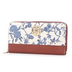 ケイタマルヤマ アクセサリーズ KEITAMARUYAMA accessories Blue Blue Blue ラウンドファスナー長財布 (ホワイト)