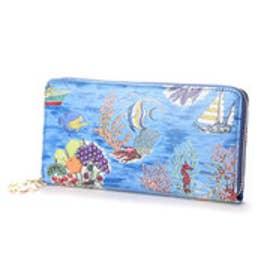 ケイタマルヤマ アクセサリーズ KEITAMARUYAMA accessories グラマラスビーチ 長財布ラウンドファスナー (ブルー)
