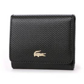 ラコステ LACOSTE CHANTACO 3つ折り財布 (ブラック)