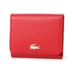 ラコステ LACOSTE CHANTACO 3つ折り財布 (レッド)