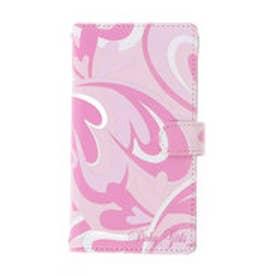 ピンキーガールズ Pinky Girls 【Pinky Girls ピンキーガールズ】ハートモチーフマーブル柄スマートフォンケース(Mサイズ) (ピンク)
