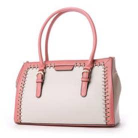 ビバユー VIVAYOU 【VIVAYOU ビバユー】かがり加工クラシックスタイルバッグ (ピンク)