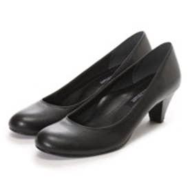 マミアン MAMIAN 美脚フォーマルパンプス:足が痛くない(なりにくい)5cmヒール ラウンドトゥパンプス/日本製:ブラックスムース/【 iCoN 】BASIC 50 R (51)(ブラック)