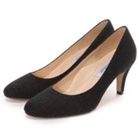 マミアン MAMIAN ラメツイードラウンドトゥパンプス(563-c14w1):履きやすさと美脚に魅せる冬の新作:履きやすく歩きやすいラウンドトゥパンプス【レディース靴】(ブラック)