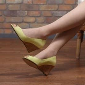 マミアン MAMIAN ウェッジソール パンプス:履きやすさと美脚に魅せるシルエットを両立したマミアンのアイテム:クッション中敷きで足が痛くない(なりにくい)(ライム)