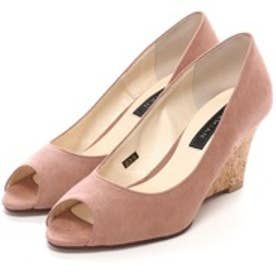 マミアン MAMIAN ウェッジソール パンプス:履きやすさと美脚に魅せるシルエットを両立したマミアンのアイテム:クッション中敷きで足が痛くない(なりにくい)(ブラウン)