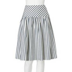 ダズリン dazzlin 【moi】stripe flare sk (ホワイト)