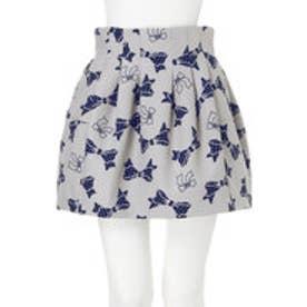ダズリン dazzlin 【dazzlin】リボンボンディングスカート (グレー)