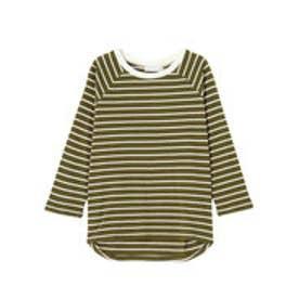 ダズリン dazzlin 【W】シンプルボーダーTシャツ (カーキ)