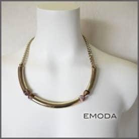 エモダ EMODA スフィアinパイプネックレス (ゴールド)