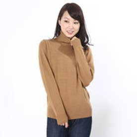 エモダ EMODA turtle neck soft knit tops (ベージュ)