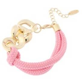 ジュエティ jouetie 【CASUAL】チェーンループブレス (ピンク)