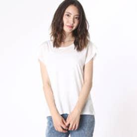 ムルーア MURUA 【MURUA】フレアスリーブ無地Tシャツ (ホワイト)