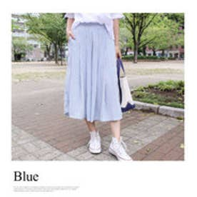モードローブ MODE ROBE 【VERY8月号掲載】ストライプ スカーチョ (ブルー)