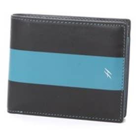 ヘレナ HELENA 小銭入れ付き二つ折り財布 (クロ×グリーン)