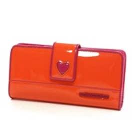 アガタ・ルイズ・デ・ラ・プラダ AGATHA RUIZ DE LA PRADA エナメル合皮大容量財布(オレンジ)