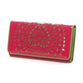 アガタ ルイス デ ラ プラダ AGATHA RUIZ DE LA PRADA エナメル合皮カットワーク大容量横長財布(フーシャ)