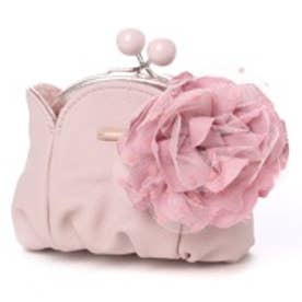 カモミッラ Camomilla コサージュ付きがま口コインケース (ピンク)