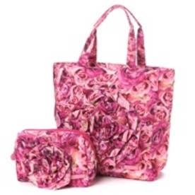 カモミッラ Camomilla 立体ローズバッグポーチセット (ピンク)