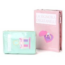 カモミッラ Camomilla ブックポーチ大小セット色ちがい (アクア/ピンク)