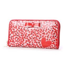 ホールマーク Hallmark ハート柄ラウンドファスナー財布 (RED)