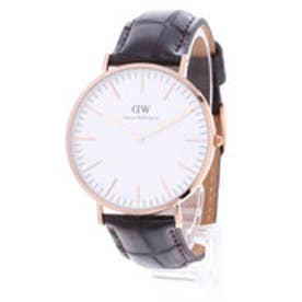 ダニエル ウェリントン Daniel Wellington York Rose gold 40mm (D/BROWN)