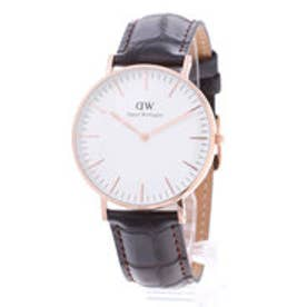 ダニエル ウェリントン Daniel Wellington York Rose gold 36mm (D/BROWN)