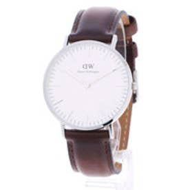 ダニエル ウェリントン Daniel Wellington Bristol Silver 36mm (D/BROWN)