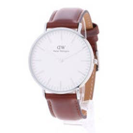 ダニエル ウェリントン Daniel Wellington St Mawes Silver 40mm (BROWN)