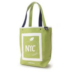 ニューヨーカー NEWYORKER STOMACHACHE.コラボ / アップルモチーフ トートバッグ (グリーン)