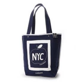 ニューヨーカー NEWYORKER STOMACHACHE.コラボ / アップルモチーフ トートバッグ (ネイビー)