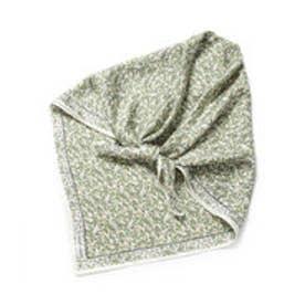 ニューヨーカー NEWYORKER フォレストフラワープリントスカーフ/シルク100% (ホワイト)