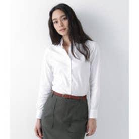 ニューヨーカー NEWYORKER ギザコットン ピンオックス レギュラーカラーシャツ (ホワイト)