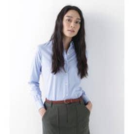 ニューヨーカー NEWYORKER ギザコットン ピンオックス レギュラーカラーシャツ (サックスブルー)
