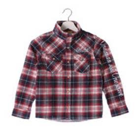 ガチャキッズ Gotcha Kid's KIDS ボリュームネックチェックシャツ (アカ)