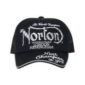 ノートン Norton チェック刺繍メッシュCAP (クロ)