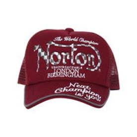 ノートン Norton チェック刺繍メッシュCAP (ワイン)