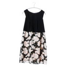 アプレジュール apres jour 後ろリボンオパールスカートドレス (ブラック)