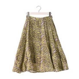 カプワ kapuwa Dahlia柄セミサーキュラースカート【イエロー】 (yellow)